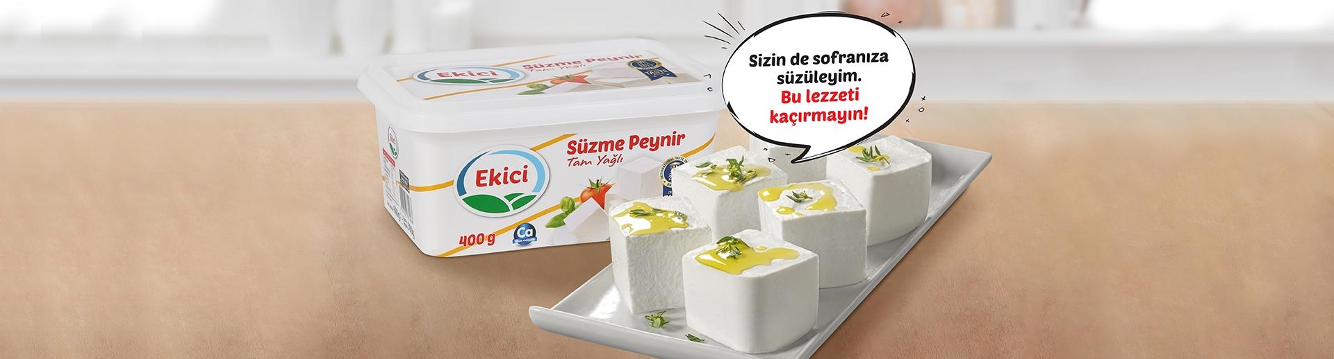 Ortama bi' süzülüyorum herkes beni kesiyor! Türkiye'nin ünlü süzmesi Ekici Süzme Peynir.