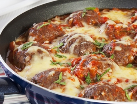 Roasted Cheese Meatballs