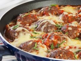 Roasted Cheese Meatballs